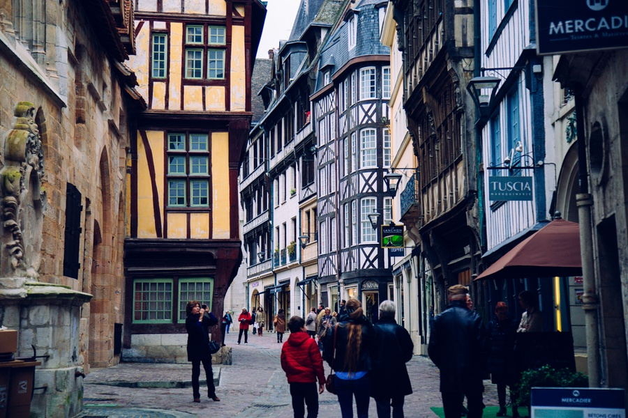 la rue saint romain de Rouen