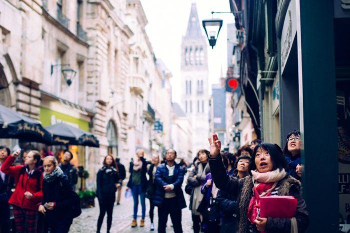 Les touristes de Rouen