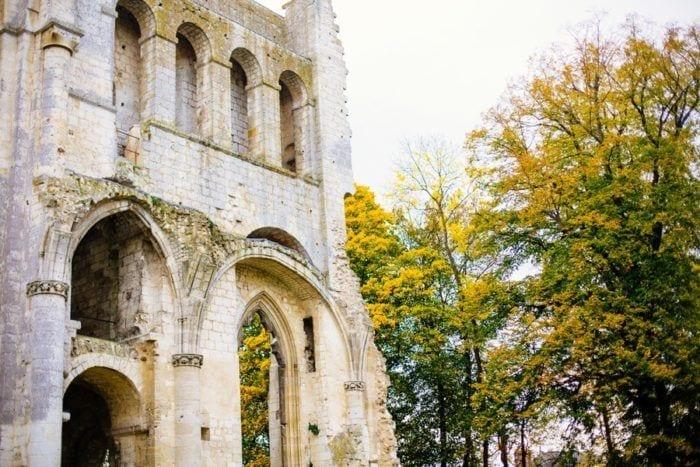 Façade de l'Abbaye de Jumièges