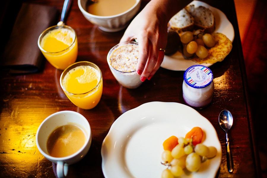 Le petit déjeuner à l'hôtel du Vent d'Ouest