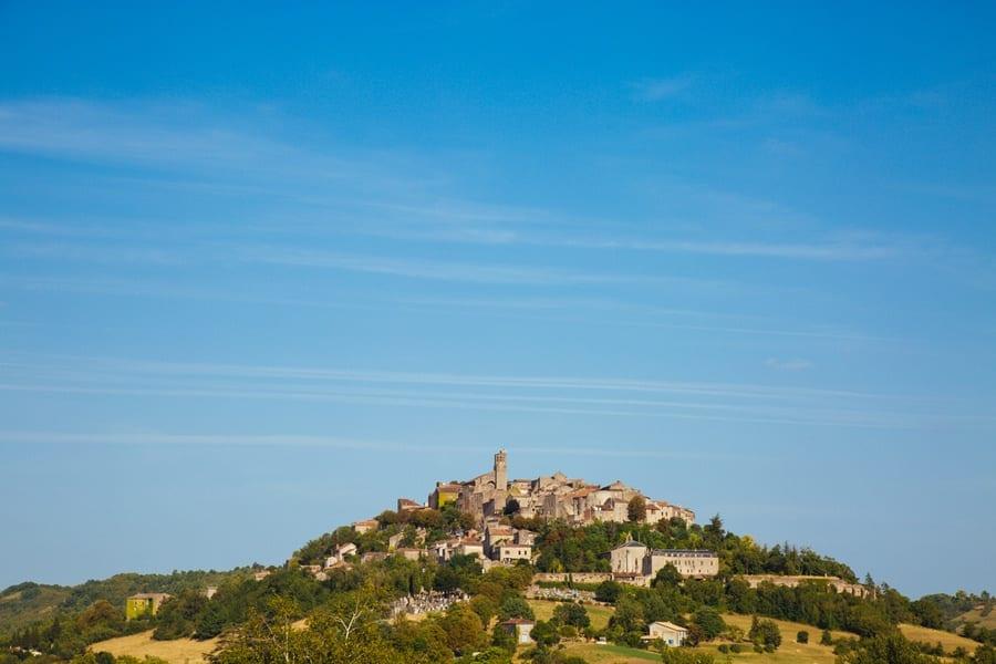 Le village de Cordes sur Ciel dans le Tarn