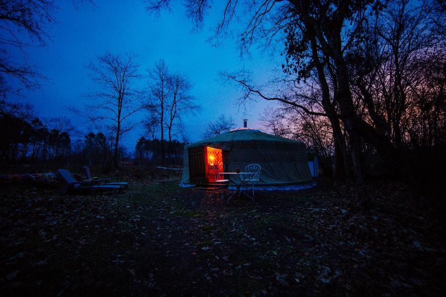 Une nuit dans une yourte des landes