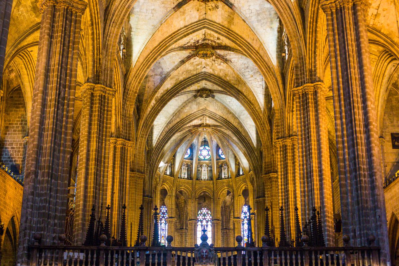 La cathédrale Ste Croix à Barcelone