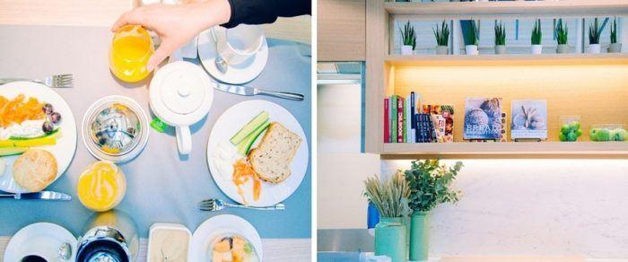 Notre petit déjeuner à Boho hôtel à prague