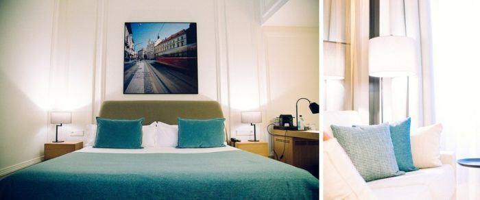 Chambre de l'hôtel Boho à Prague