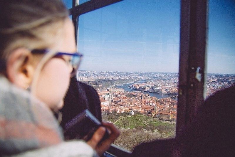 Vue sur Prague depuis la Tour Petrin
