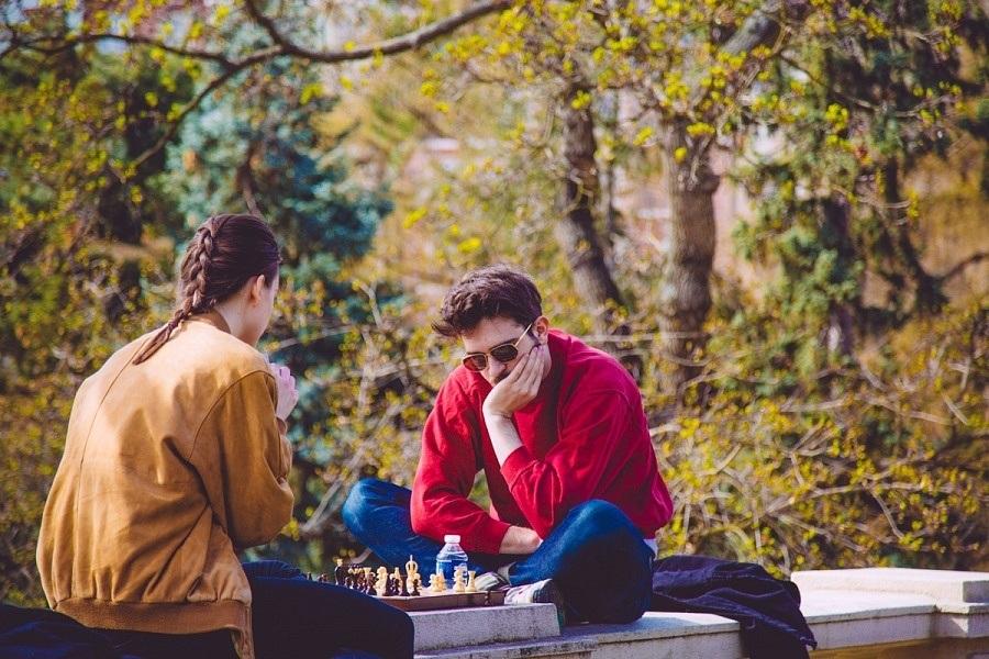 Praguois dans les jardins Riegrovy Sady