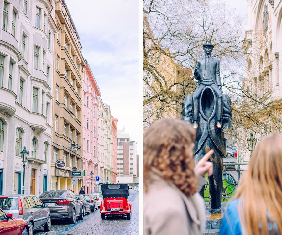 La statue de Franz Kafka
