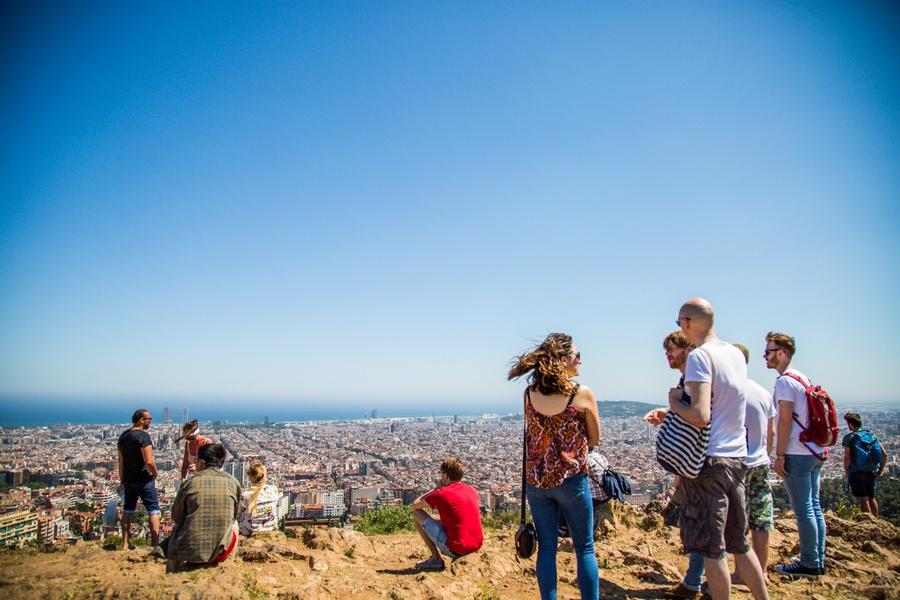 Le panorama sur Barcelone depuis le Parc Guell
