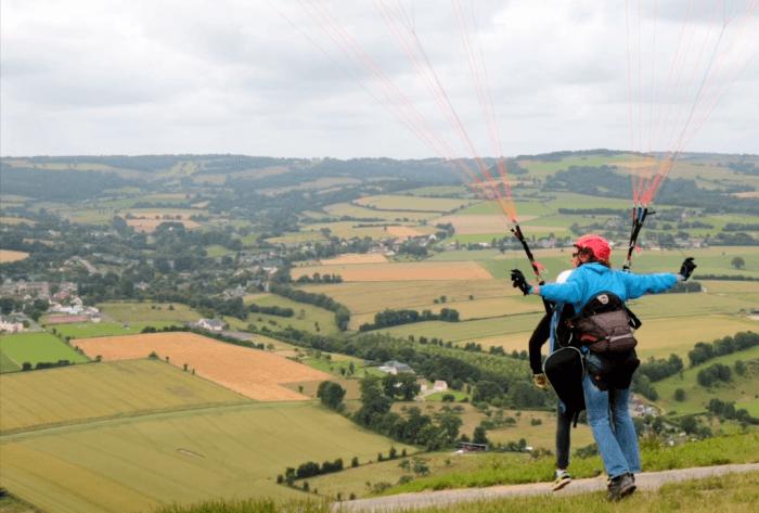 Le parapente en Suisse Normande