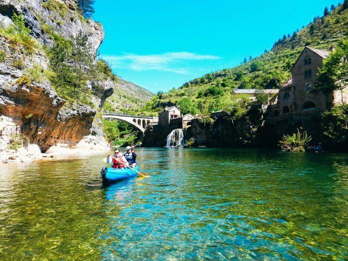 Escapade en canoé kayak dans les gorges du Tarn