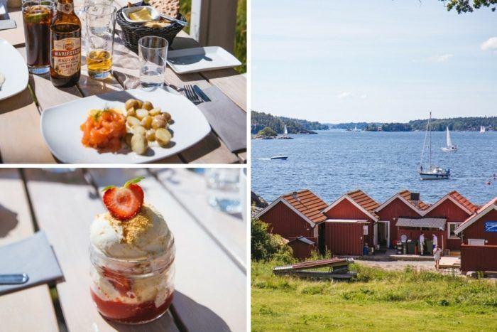 Manger sur l'archipel de Stockholm