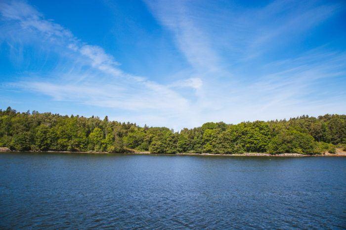 Un paysage de l'archipel de Stockholm
