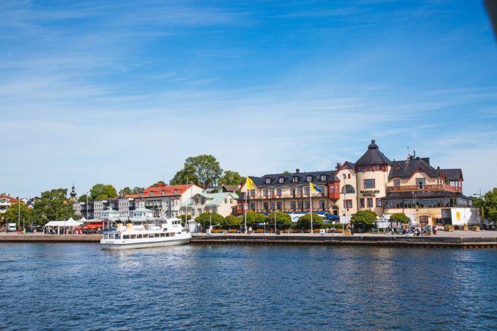 L'île de Vaxholm et son château