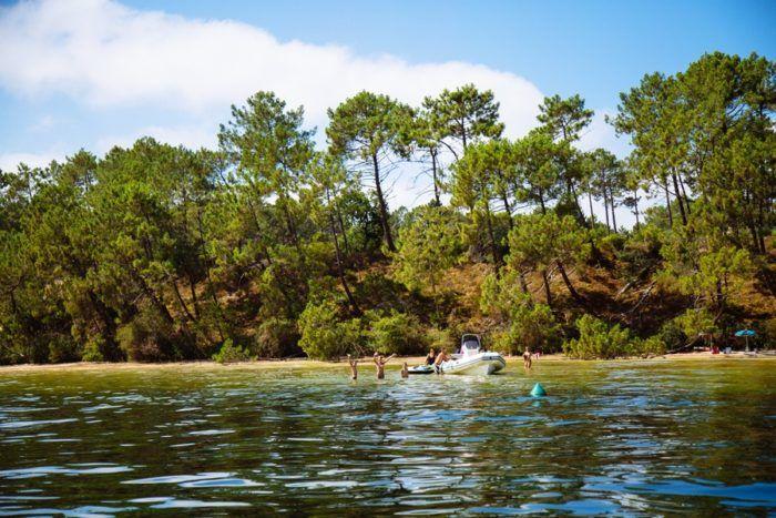 Une journée en bateau sur le lac de Biscarrosse
