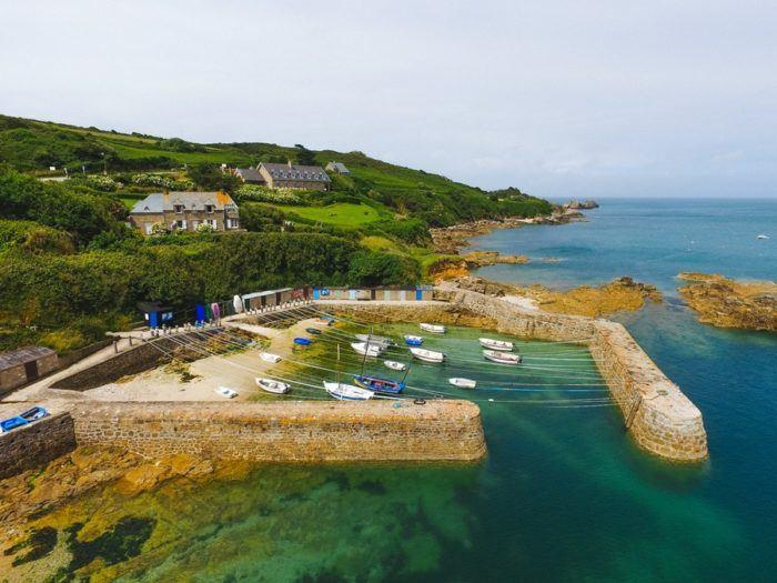 Paysage Port Racine en Normandie