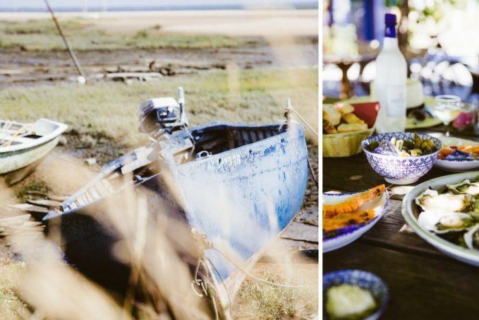 Une dégustation d'huitres sur la plage de l'Aiguillon