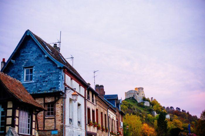 Les maisons colorées des Andelys