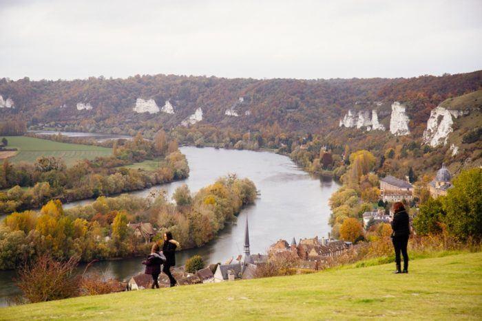 Panorama sur la Seine aux Andelys