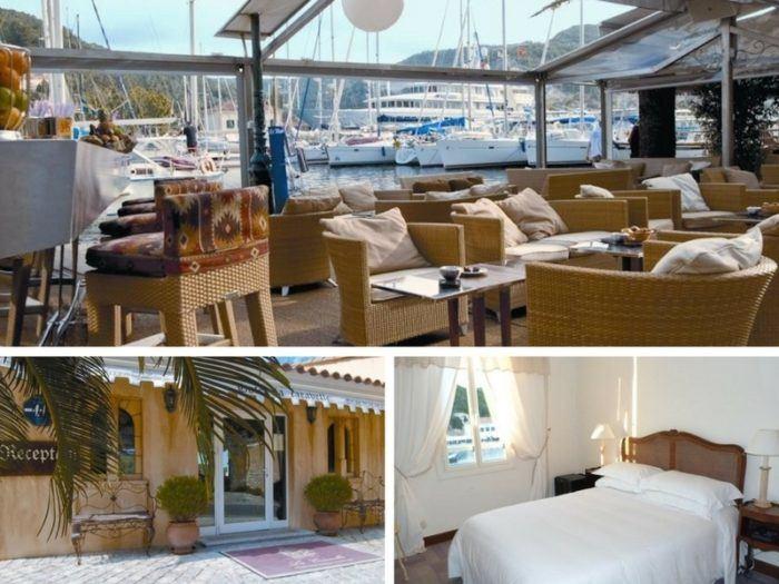 Où dormir à Bonifacio port de Bonifacio hôtel la Caravelle
