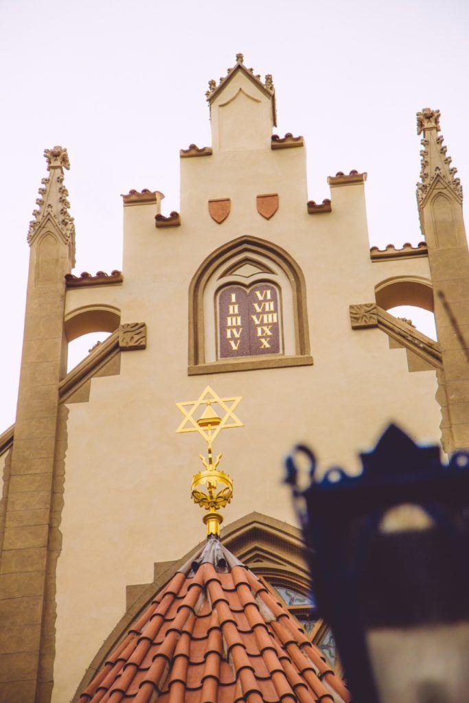 synagogue maille Prague quartier juif