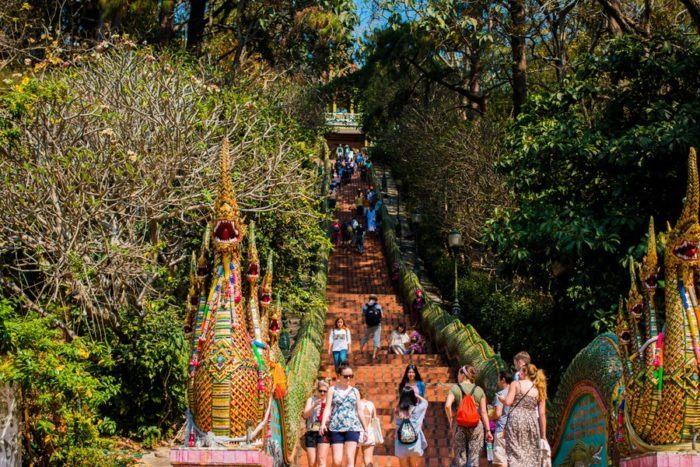 Temple Wat Phrathat Doi Suthep, Chiang Maï, Thaïlande