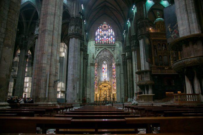 Intérieur du Duomo, cathédrale de Milan