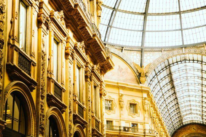 Top 7 choses à voir à Milan, Galerie Vittorio Emmanuele II, Italie