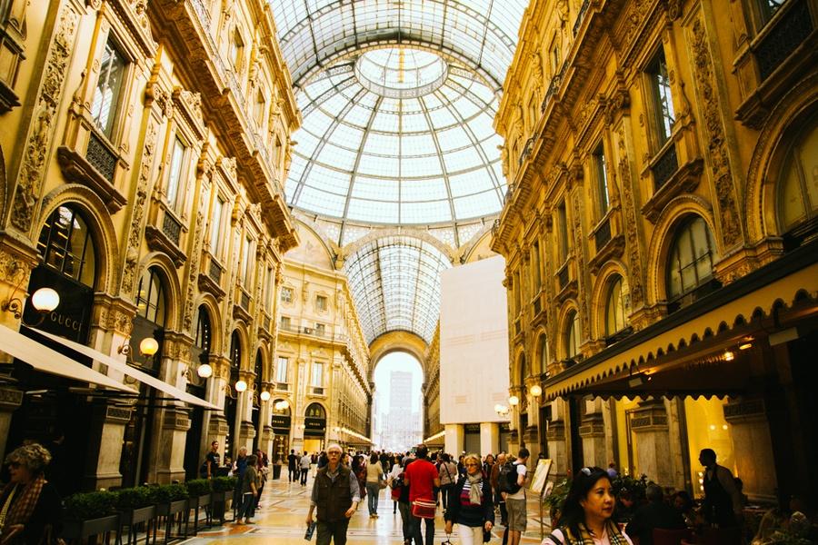 Milan, Italie, galerie victtorio emmanuele II