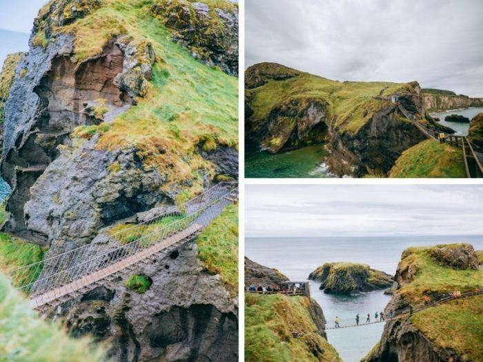 Pont de corde Irlande du Nord