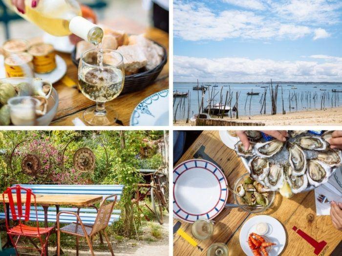 Déjeuner chez Emile et une huître sur le Bassin d'Arcachon