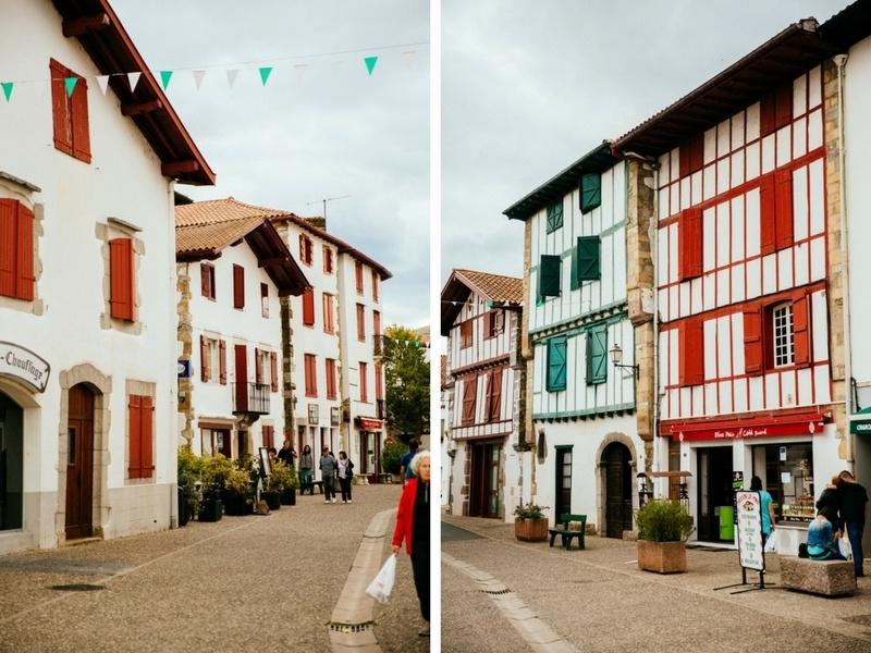 Les ruelles d'Espelette, au Pays Basque