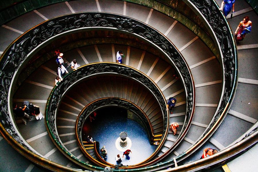 L'escalier Bramonte à Rome