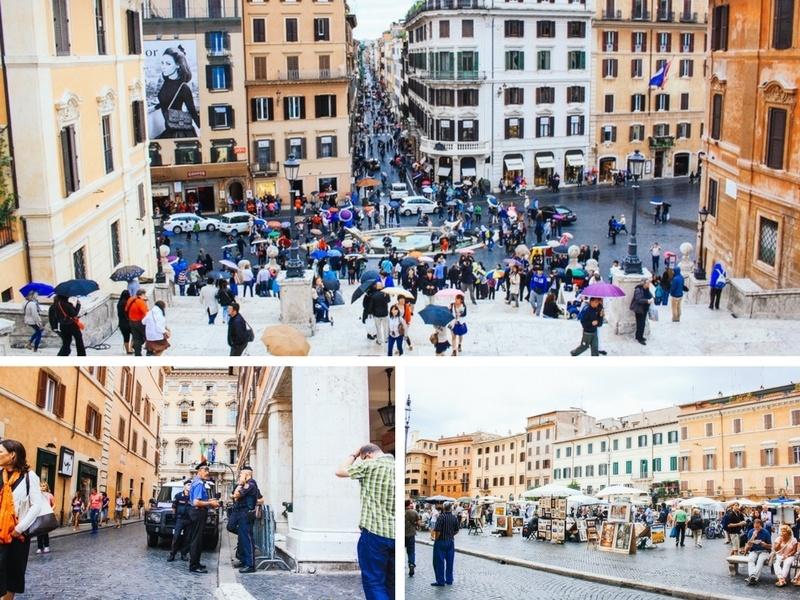 Autour de la via del Corso à Rome