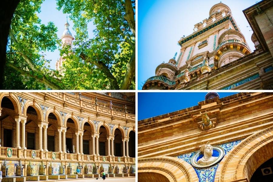 La Place d'Espagne à Séville