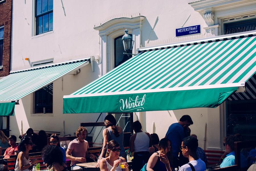 Goûter chez Winkel à Amsterdam