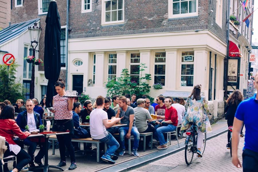 Café à Amsterdam
