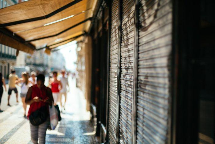 Les ruelles de Baixa à Lisbonne
