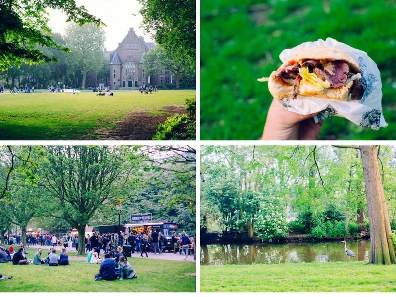 Après-midi dans l'Osteer Park à Amsterdam