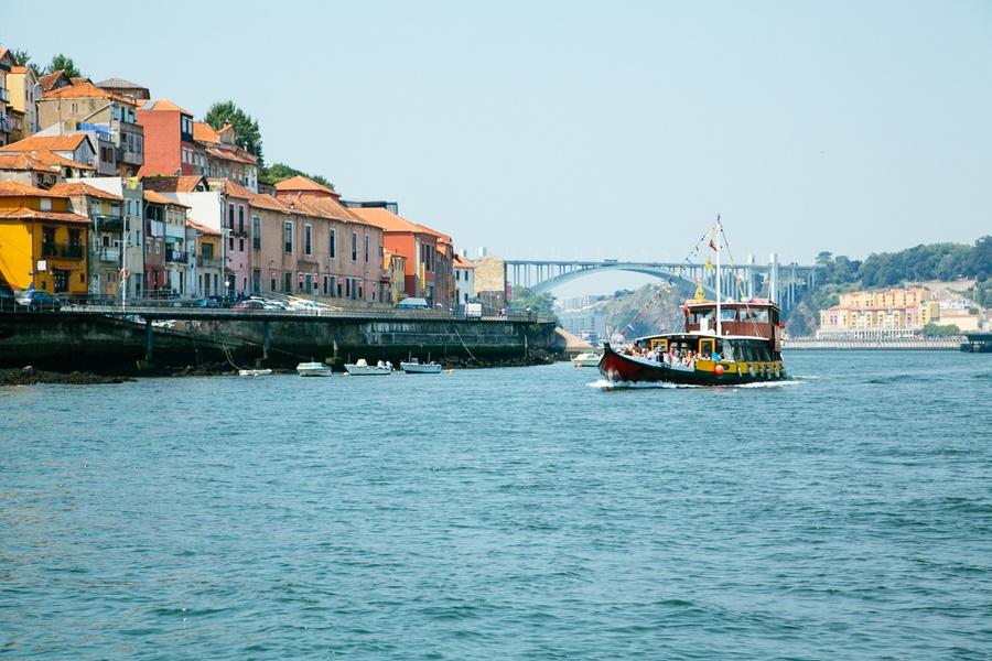 Vue sur le Douro à Porto