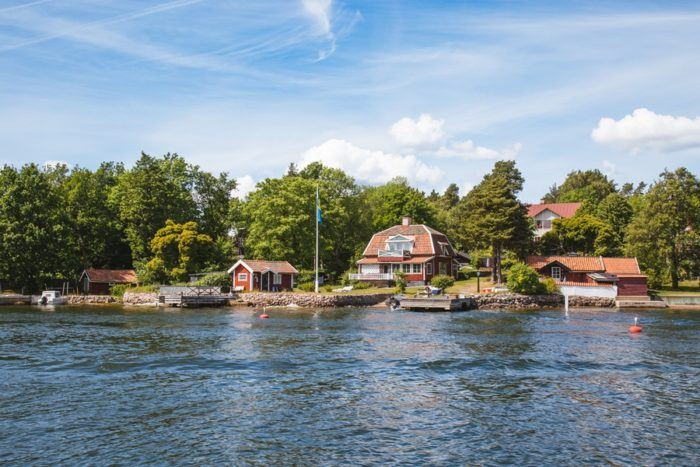Les petites maisons de l'Archipel de Stockholm