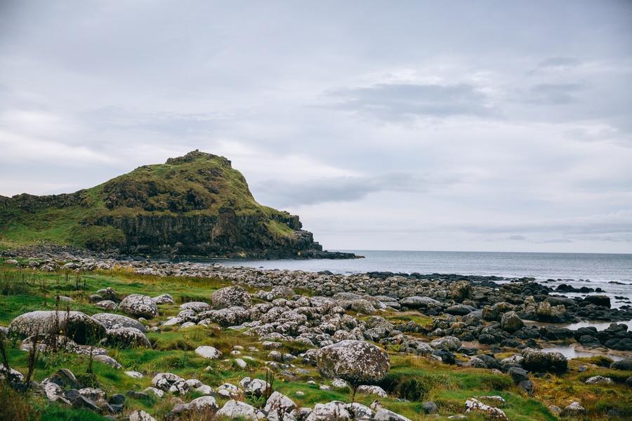 Paysages de la Chaussée des Géants en Irlande