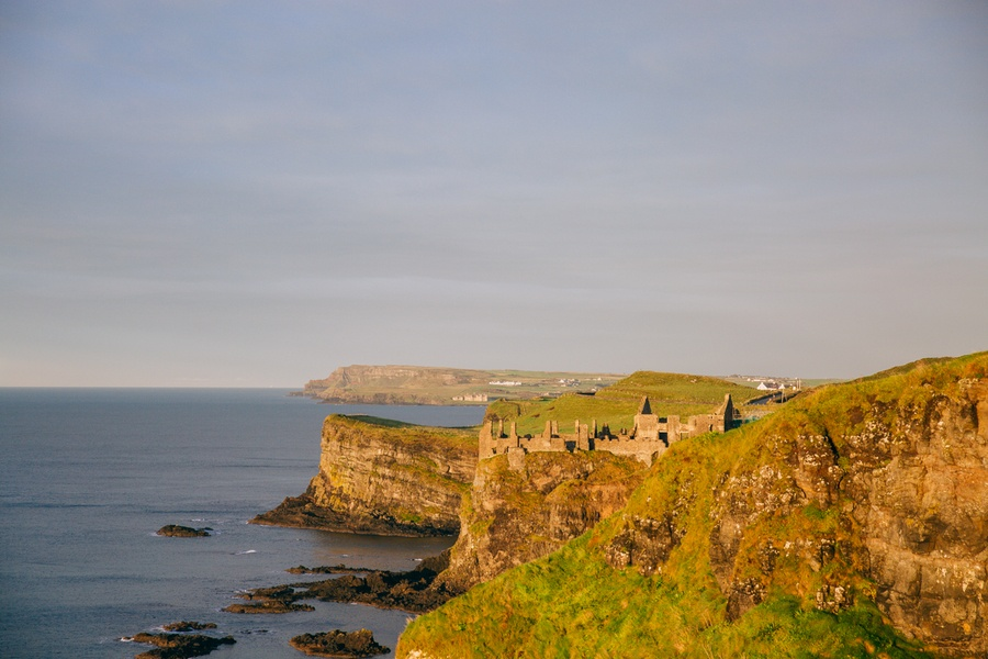 Dunluce Castle en Irlande