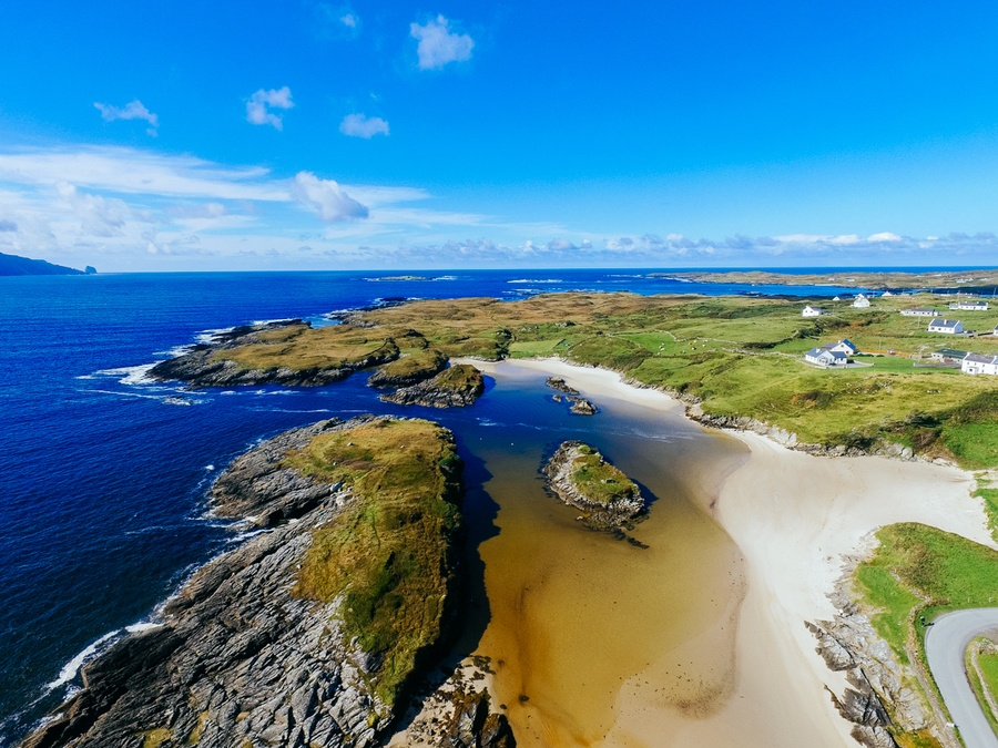 Les plages de Rossbeg en Irlande