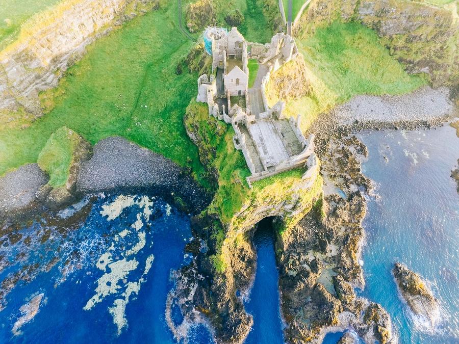 Château de Dunluce en Irlande