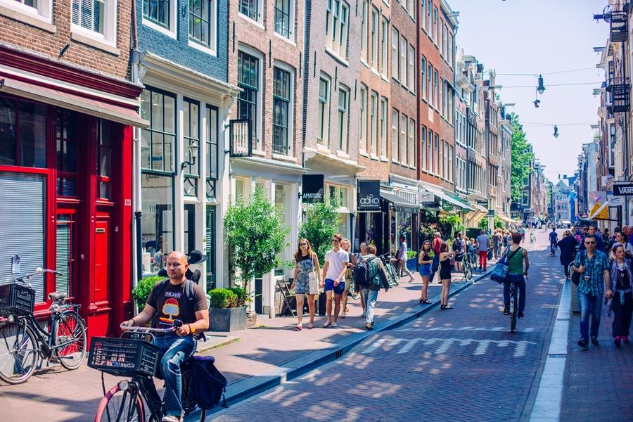 Shopping dans le quartier de Grachtengordel à Amsterdam