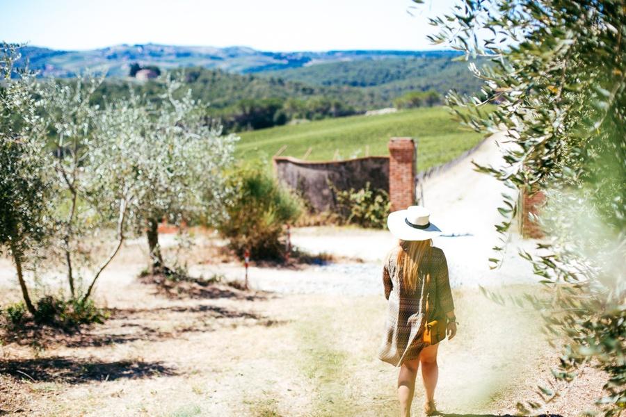 Balade dans les vignes toscanes