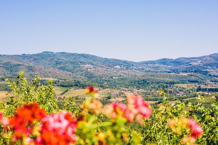 Paysages toscans dans la vallée du Chianti