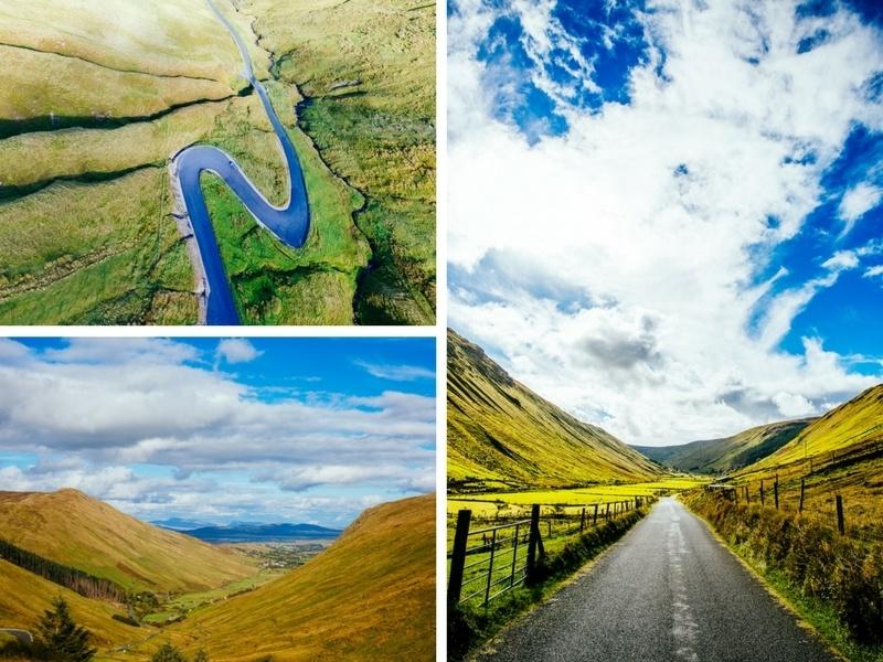 Col de Glengesh Pass en Irlande