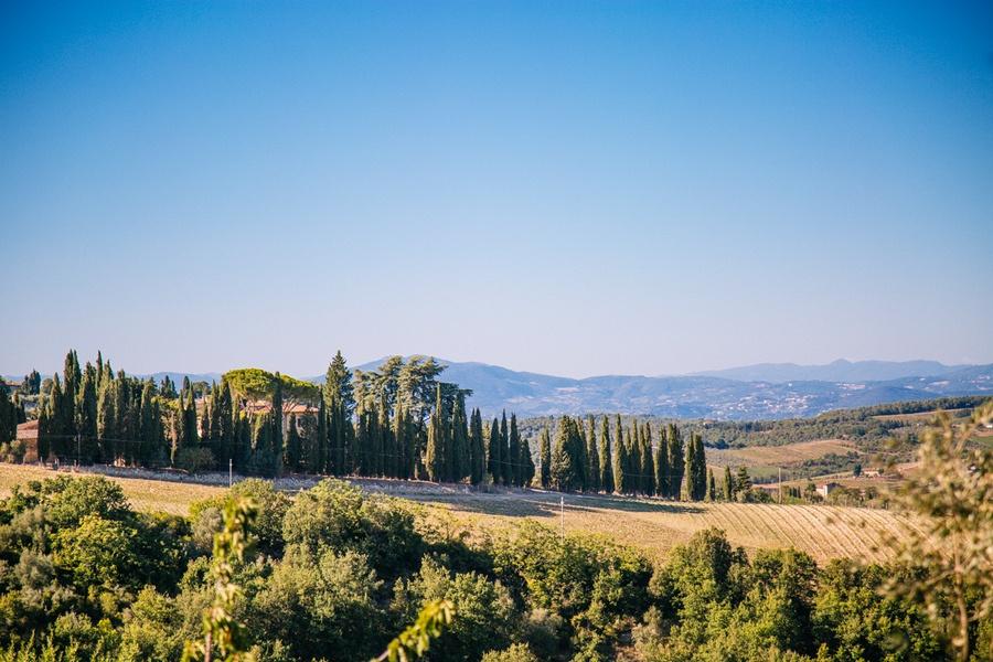 Paysages toscans en vallée du Chianti